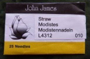 John James #10 Straw needles /QTY 25