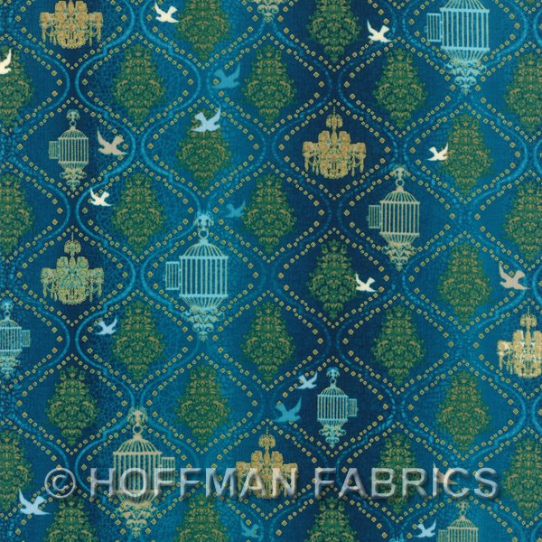 Hoffman Fabrics Birds and Blossoms K7116-61G
