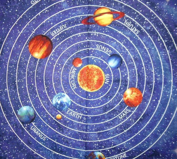 Out of this world solar system panel for Solar system fabric panel