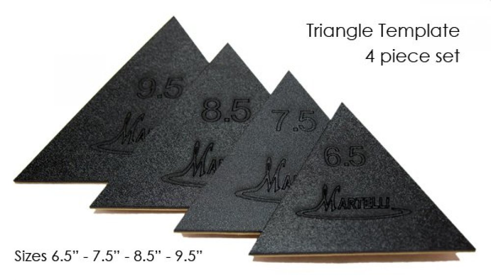 Martelli Quilting Templates : Triangle Fussy Cut Template Large 6.5 to 9.5-Martelli- - SALE - 641453500602