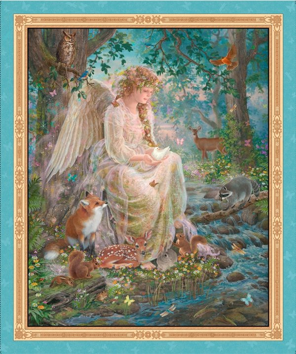 Quilting Treasures - Artworks IV- Nature's Angel Panel - 25818-X (N36)
