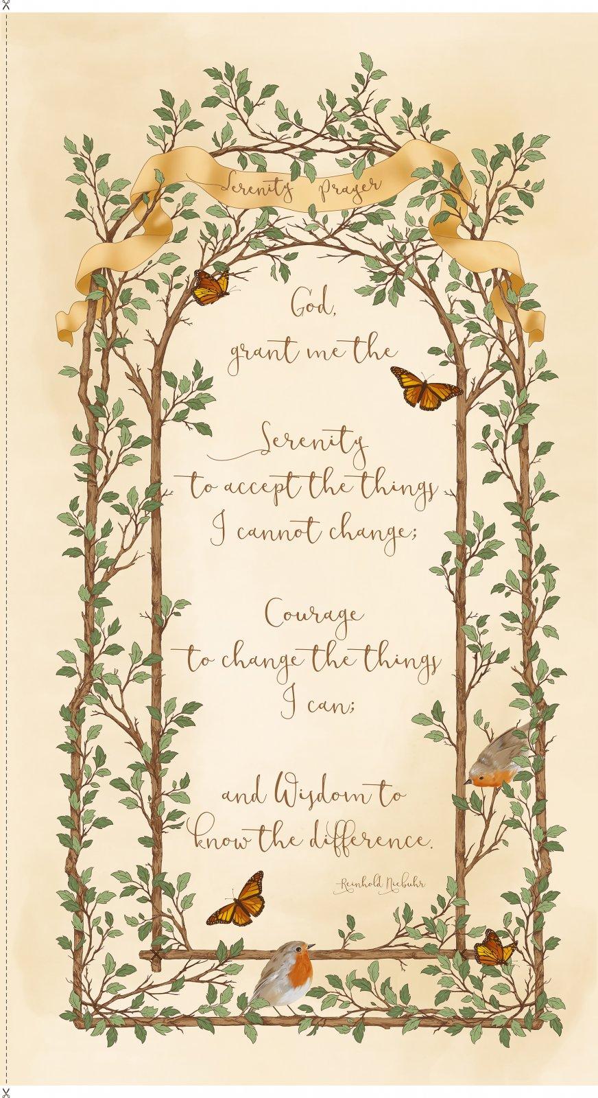 Quilting Treasures - Serenity Prayer Panel/Cream - 25824-E (I-13)