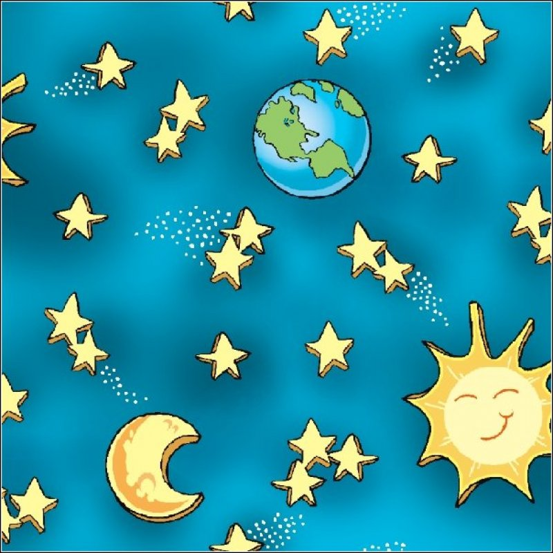 Quilting treasures how in the world space moon stars for Space themed fabric