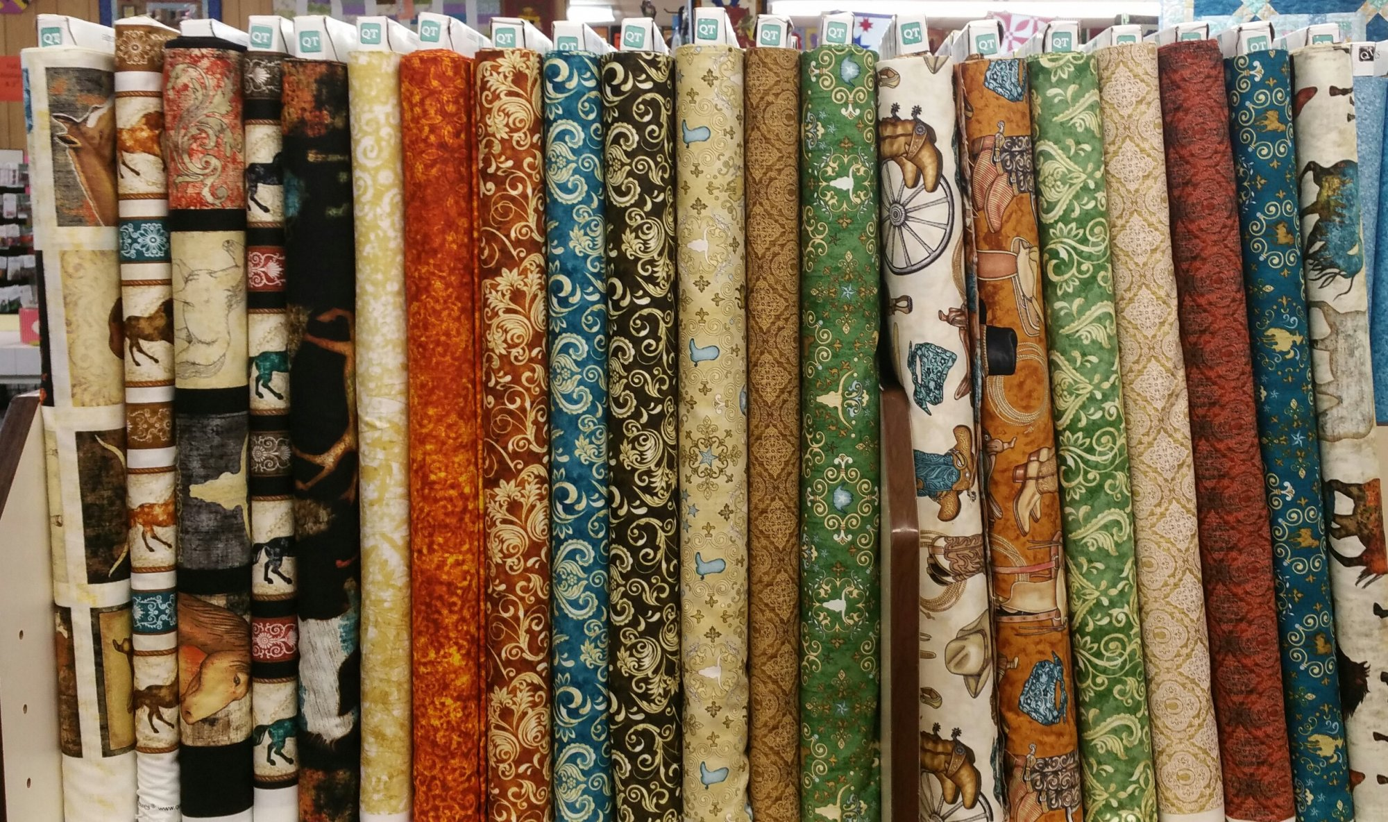 Western fabrics tack room for Space themed fabric