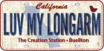 luv my longarm plate