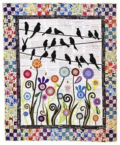 Birds On A Wire Wool Quilt Kit 011091902090