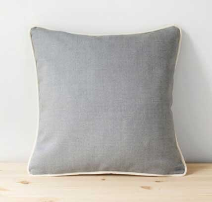 Throw Pillow with Piping and Zipper