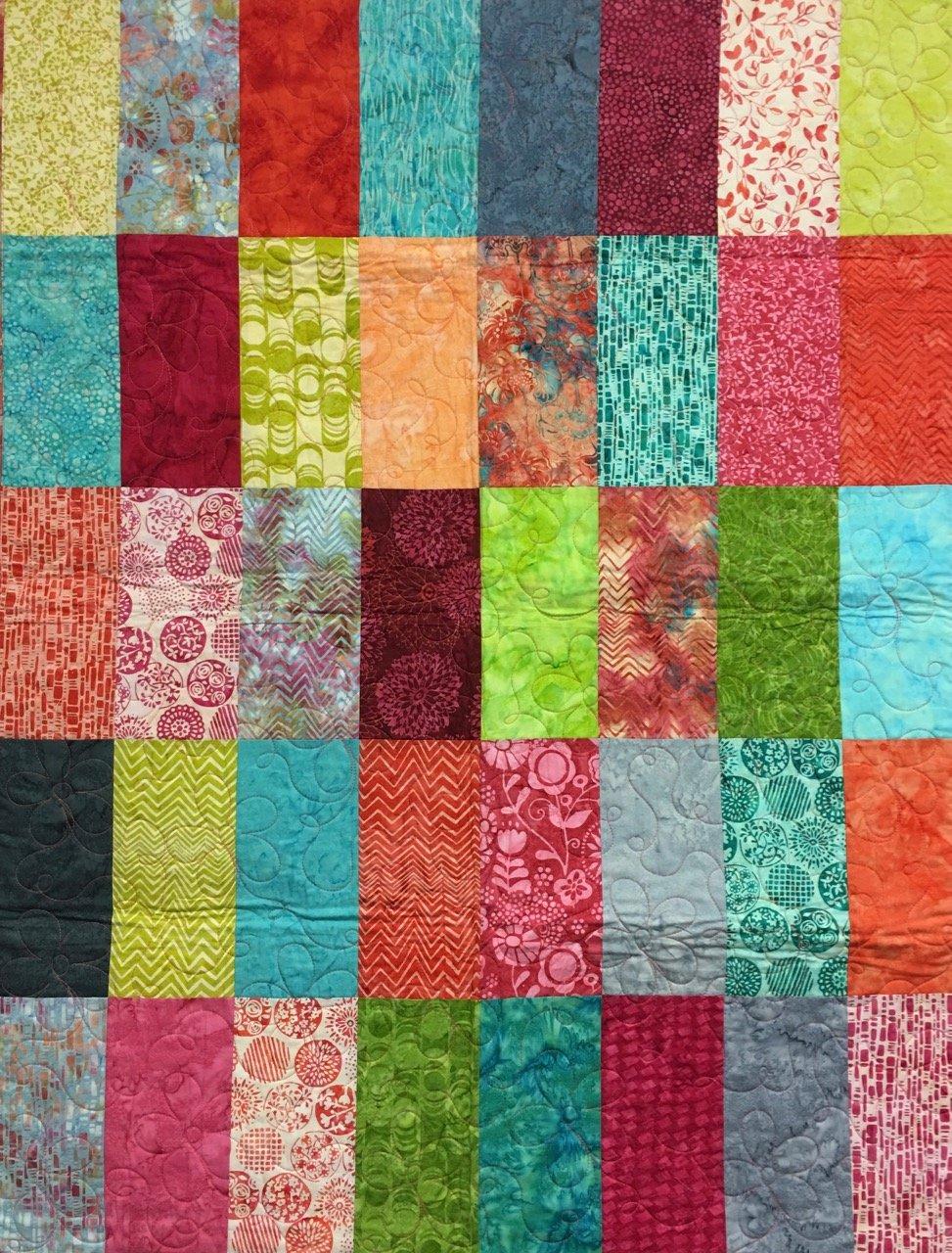EDEN ROSE Bright Batik 36x47