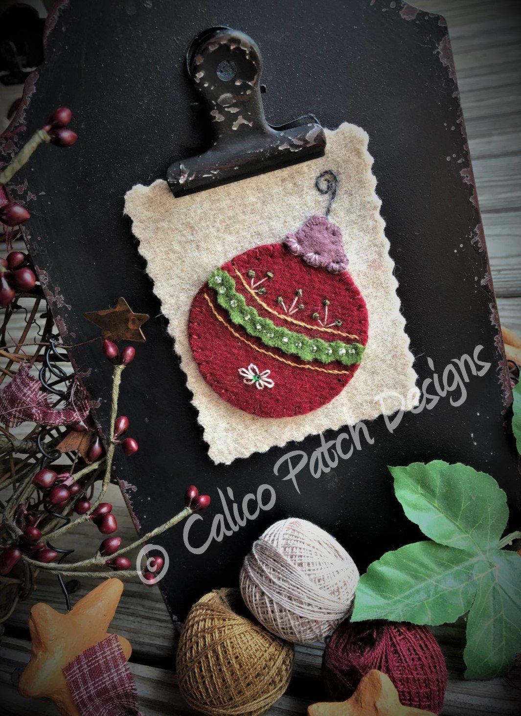 Calico Christmas Block 2 Tree Ornament