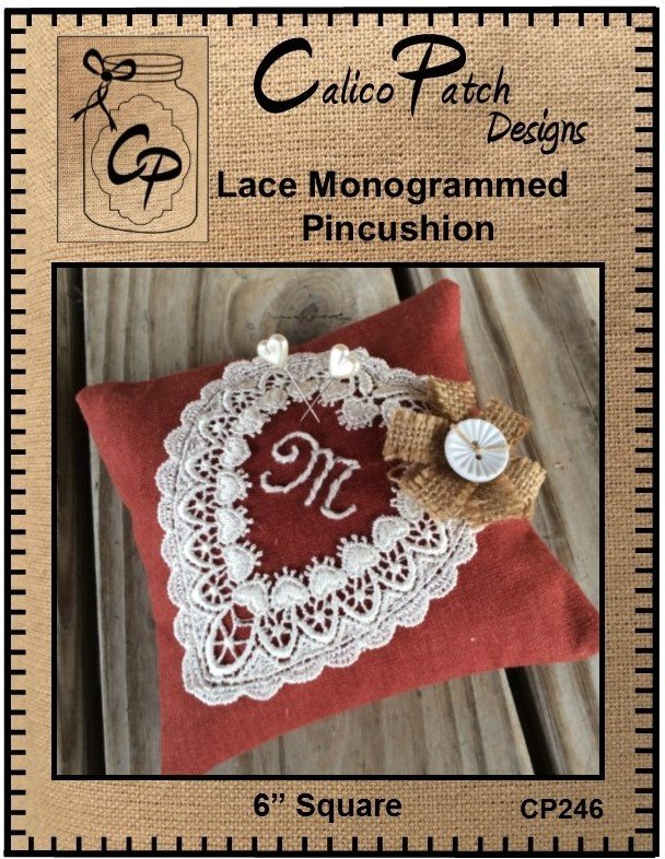 Lace Monogrammed Pincushion