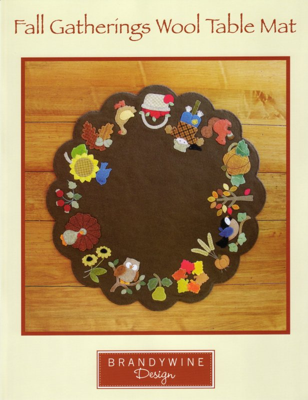 Fall Gatherings Wool Table Mat 636052020446