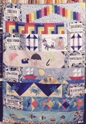 Our Second BPF 2015 H2O Row By Row Finished Quilt