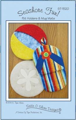Seashore Fun Potholder & Mug Mat Pattern