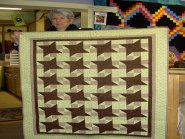 Sleepy Valley Quilt Co. -  This adorable baby quilt is by Jenny Rymer.  It is backed with comfy flannel.