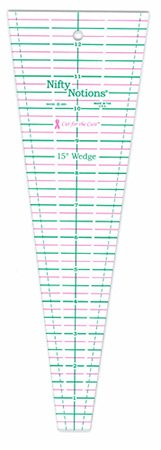Cut for the Cure 15 Degree Wedge Ruler