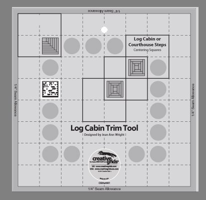 Creative Grids Log Cabin Trim Tool One - 8
