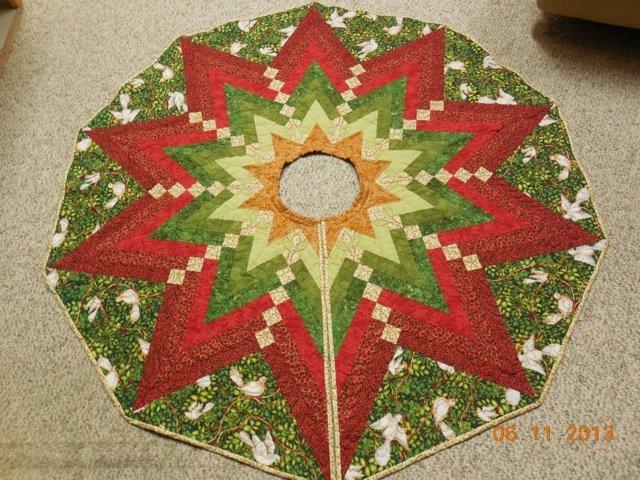 1025 french braid christmas tree skirt - Christmas Tree Skirt Patterns