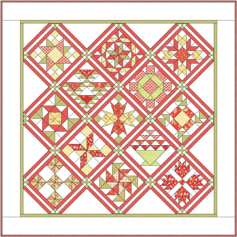 APPLE PIE in the Sky SAMPLER QUILT ALONG