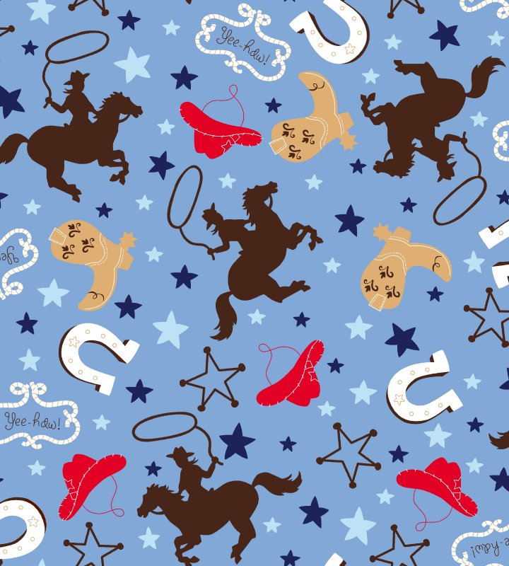 Giddy Up Quilt Kit Backing My Lil Buckaroo Blue Cuddle Fabric