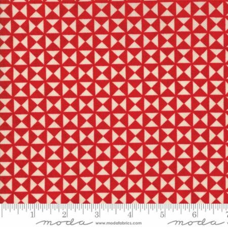 Berry Merry Scarlet Cream Christmas Quilt Block design 30476 14 by BasicGrey for Moda