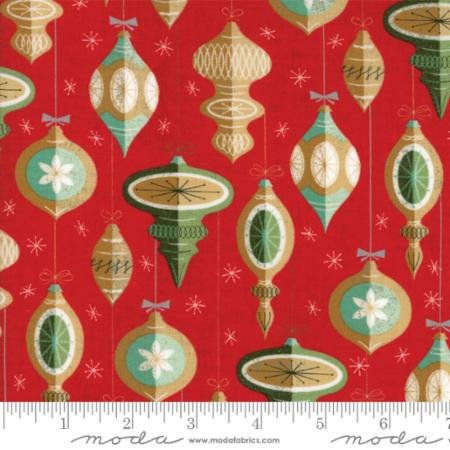Berry Merry Scarlet Ornaments 30471 14 by BasicGrey for Moda