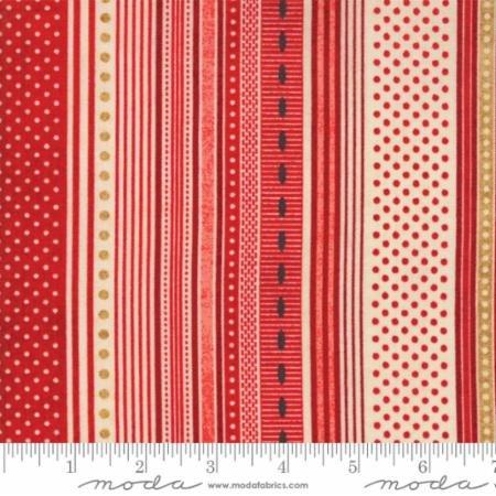 Berry Merry Scarlet Ribbon Stripe 30473 12 by BasicGrey for Moda