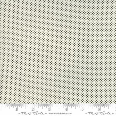 Essentially Yours Creamy White Black Mini Dot 8655 125 by Moda