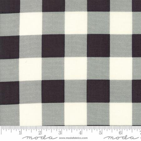 Hometown Christmas Charcoal Black Check 5667 14 Moda by Sweetwater for Moda