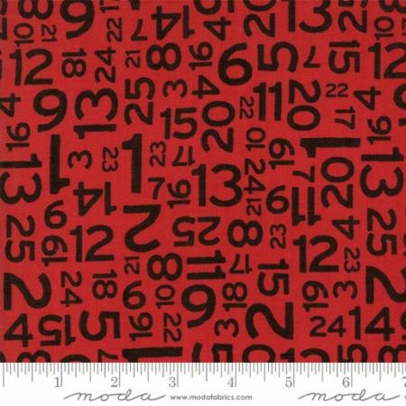 Hometown Christmas Red Countdown 5665 22 Moda by Sweetwater for Moda