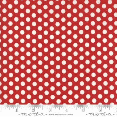 Hometown Christmas Red Snowball 5666 22 Moda by Sweetwater for Moda