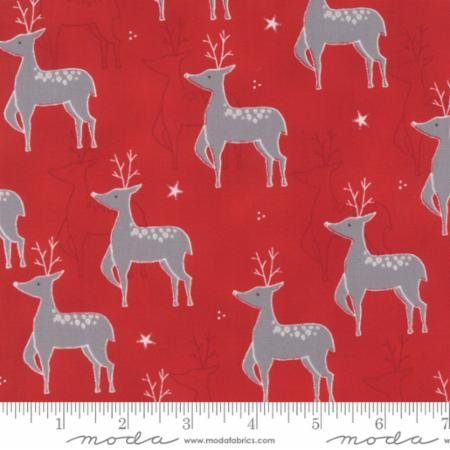 JOL Rudolf Raud Red 39700 16 by Wenche Wolff Hatling for Moda