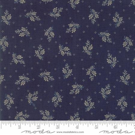 Liberty Gatherings American Blue Branches 1202 15 by Primitive Gatherings for Moda