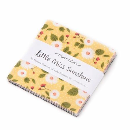 Little Miss Sunshine Charm Pack 5020PP designed by Vanessa Goertzen of Lella Boutique for Moda