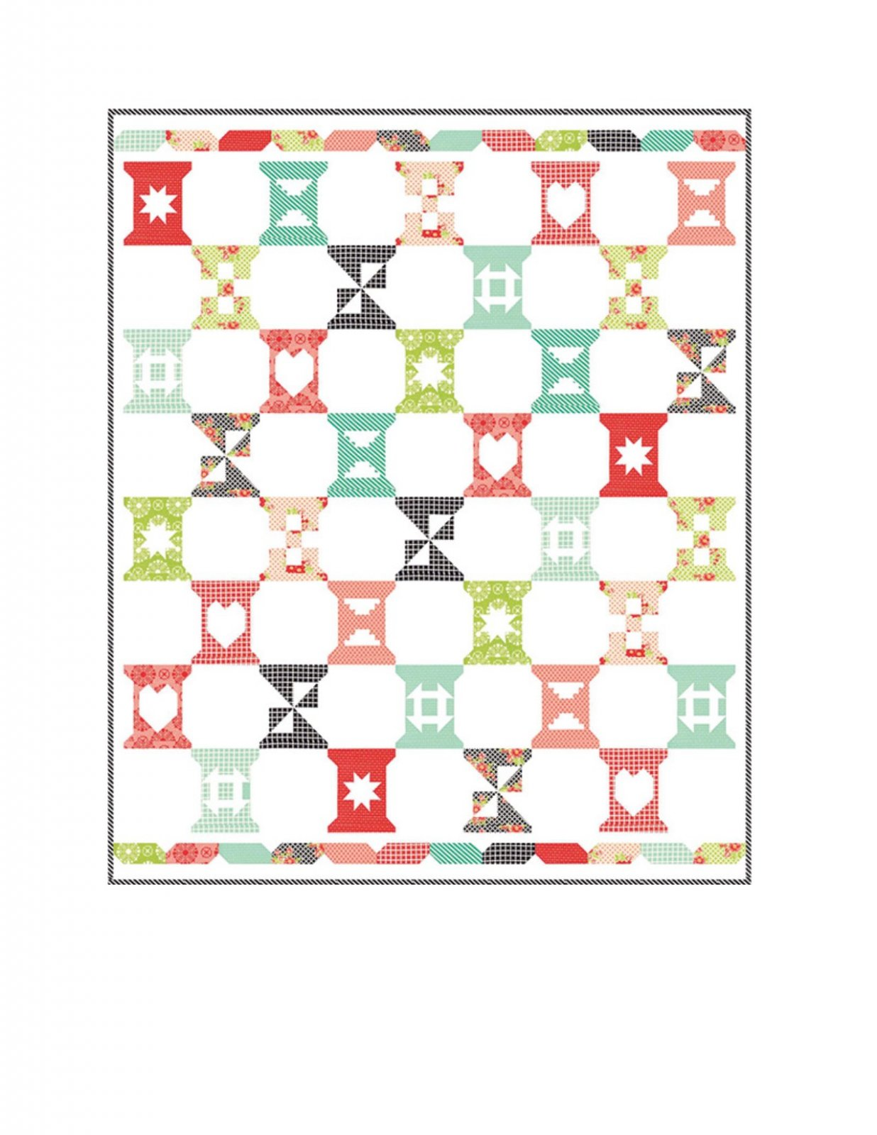 Spool Sampler Quilt Pattern designed by Bonnie Olaveson of Cotton Way