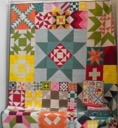 Modern Building Blocks in Solids Quilt Kit