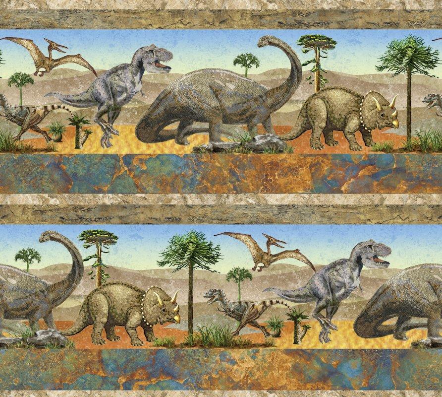 Northcott stonehenge kids prehistoric 39185 42 earth for Kids dinosaur fabric