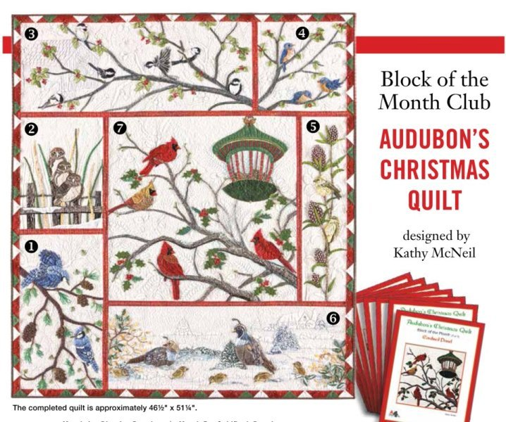 Quilt Patterns Block Of The Month : Audubons Christmas Quilt Block of the Month Full Kit - 9781343000001