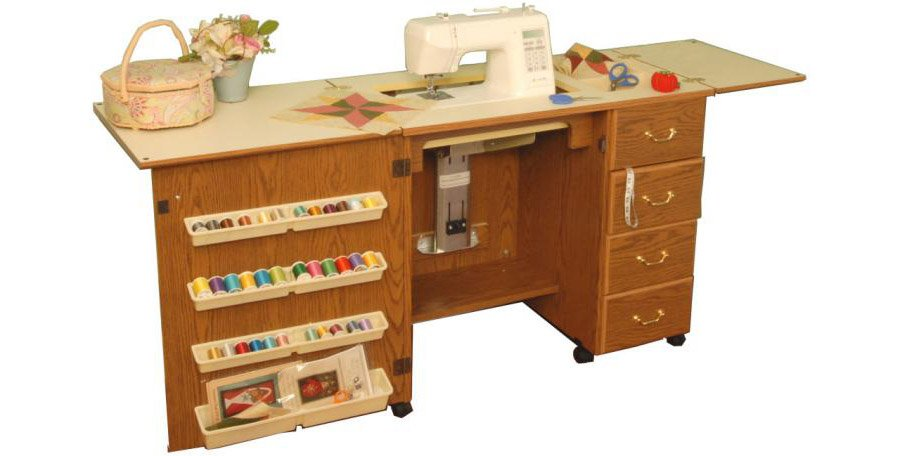 Marilyn Oak Sewing Cabinet - PICK UP IN STORE ONLY