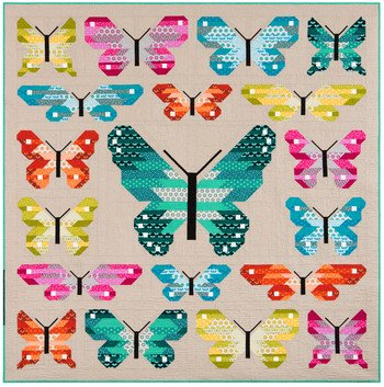 Lepidoptera Quilt Kit 84in x 84in