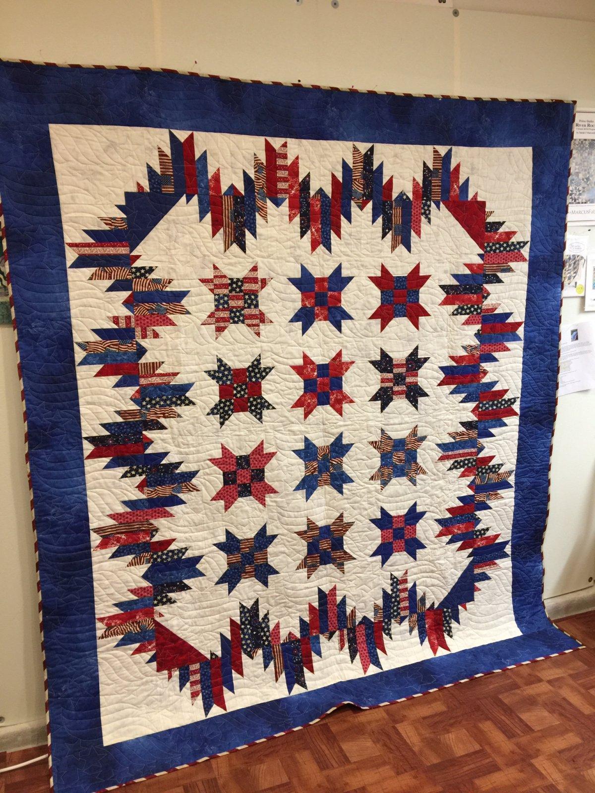 Prdqk1 patriotic rancher 39 s daughter quilt kit - Quilt rits ...