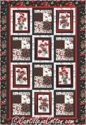 CJC-49511 Poppies Pattern featuring Fresh Cut by Timeless Treasures