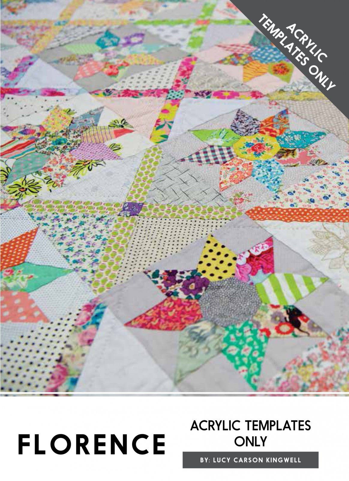 Florence Acrylic Templates Only by Lucy Carson Kingwell for Jen Kingwell Designs