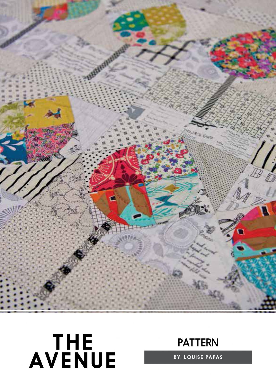 The Avenue Pattern And Authentic Acrylic Template by Louise Papas for Jen Kingwell Designs