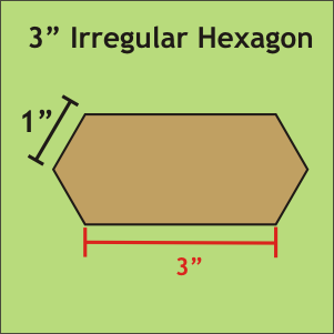 3 Irregular Hexagon