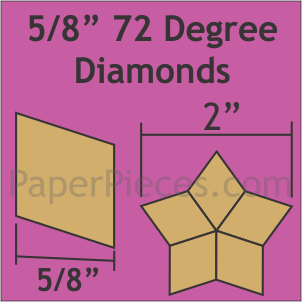 5/8 72 Degree Diamonds