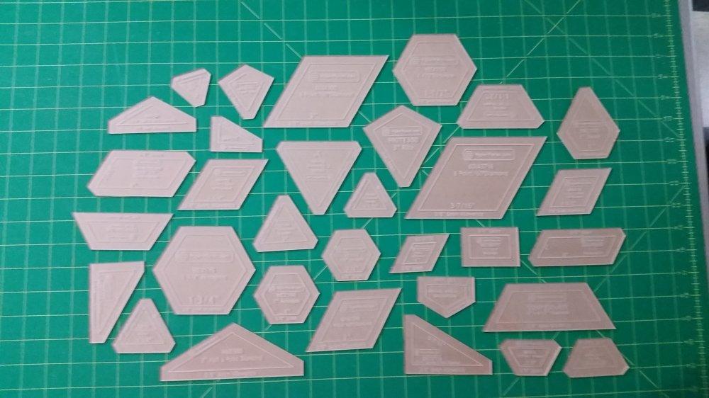 Acrylic Fabric Cutting Templates