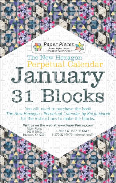 January Blocks - Paper Pieces