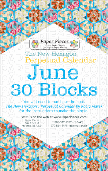June Blocks - Paper Pieces