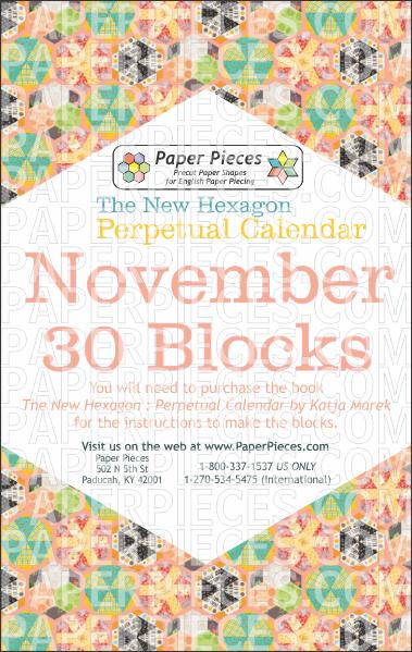 November Blocks - Paper Pieces
