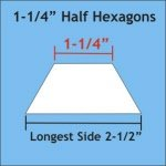 1-1/4 Half Hexagon
